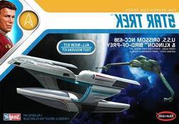 Polar Lights 1/1000 Star Trek USS Grissom & Klingon BoP Plas
