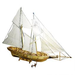 1:130 Scale Wooden Sailboat Model Kit Harvey Ship Puzzle for