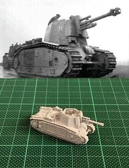 1/144 WWII German 10.5cm LeFH 18/3  auf B2 SPG Resin Kit