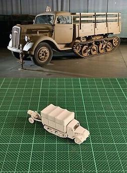 1/144 WWII German Opel Maultier & Nobelwerfer41 Resin Kit