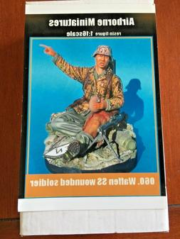 1/16 AIRBORNE MINIATURES:  060. WAFFEN SS WOUNDED SOLDIER  R
