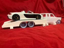 1/24 1/25 Model Car Tandem Axle Ramp Truck Bed | 3D Printed