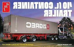 1:24 AMT 40' CONTAINER SEMI TRAILER Plastic Model Kit *NEW S