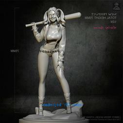 1/24 75mm Female Joker Figure Unpainted Harley Quinn Resin M