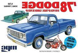 1:25 MPC = 1978 Dodge D100 Pickup Truck w/MINI BIKE Plastic