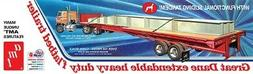 1:25 AMT GREAT DANE EXTENDABLE FLATBED SEMI TRAILER Plastic