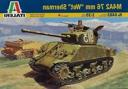 Italeri 1:35 M4A2 76mm Wet Sherman Road To Berlin Plastic Mo