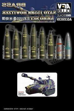 AFV Club 1:35 NATO 155mm Howitzer Ammo Plastic Model Kit AG3