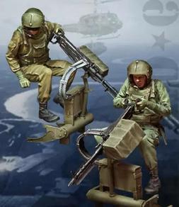1/35 Resin Figure Model Kit Vietnam War US Soldiers no Gun U