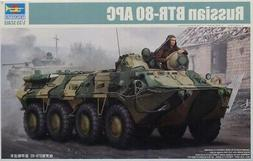 Trumpeter 1:35 Russian BTR-80 APC Plastic Model Kit #01594