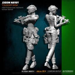 1/35 Scale ASST Female Warrior Resin Figure Unpainted Model