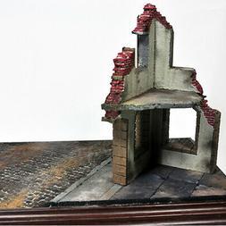 1/35 Scale Scenery Layout Warfare Buildings Ruins House Mode