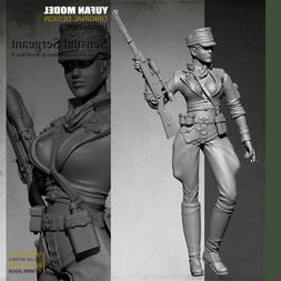 1/35 Scale WWII Shooter Female Sexy Soldier Unpainted Resin
