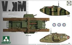 Takom 1:35 WWI Heavy Battle Tank Mk.V 3 in 1 Plastic Model K