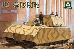 Takom 1:35 WWII German Super Heavy Tank Maus V1 - Plastic Mo