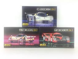 HELLER 1/43 Model Kits Lot - Porsche 962, Mecedes C9, Jaguar
