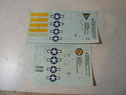 Accurate Miniatures 1/48 Decals for P-51 A-36 Mustang Model