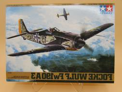 1/48 TAMIYA FOCKE-WULFE Fw190 A-3 German Fighter Plane Model