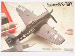 1/48 Testors Grumman F8F-2 Bearcat Plastic Scale Model Kit F