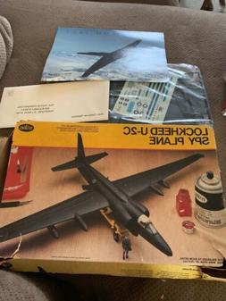 Testors 1/48 Lockheed U-2C Spy Plane Aircraft, Vintage Plast