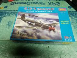 ICM 1:48 Mustang P-51B WWII American Fighter Plastic Model K