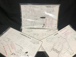 1/48 Scale Model Plane Drawings 43 PACK