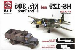 Italeri 1:48 WWII HS-129 & Kfz.305 3 Ton Truck 2 in 1 Plasti