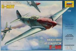Zvezda 1:48 YAK-3 Soviet Fighter Plastic Model Kit #4814