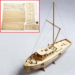 DIY Wooden Sailing Boat Ship Model Kit Assembly Home Decor E