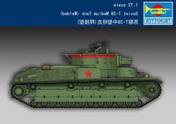 Trumpeter 1/72 Model Kit 07150 Soviet T-28 Meium Tank