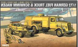Academy 1/72 Plastic Model Kit GERMAN FUEL TRUCK & SCHWIMM W