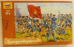 Zvezda 1/72 Swedish Infantry Figures  Model Kit 1687-1721 Pe