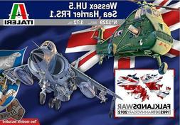 Italeri 1/72 Wessex UH.5 Sea Harrier FRS.1 Model Kit Falklan