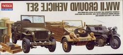 Academy 1:72 WWII Vehicle Set Plastic Model Kit 13416 ACY134