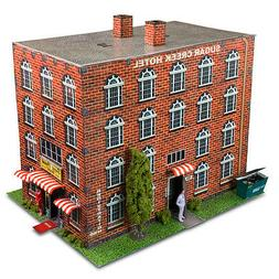 "1:87 HO Scale ""Hotel"" Photo Real Scale Building Kit Track Ac"