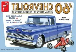 AMT 1063 UNBUILT 1960 CHEVROLET CHEVY FLEETSIDE PICKUP WITH