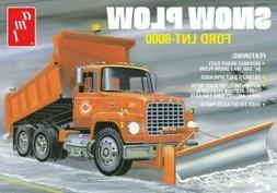 AMT 1178 FORD LNT 8000 DUMP TRUCK WITH SNOW PLOW MODEL KIT 1