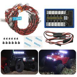12 LED Light Kits Simulation Flashing Lamp System For 1/10 R