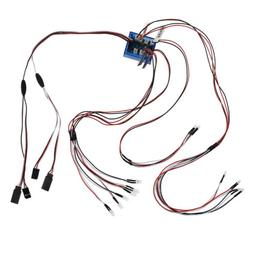 12LED Light Kit Flashing Head Lights Lamp System For HSP 1:1