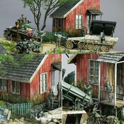 13 Pieces World War II German Soldier Shelter House Wood Cab