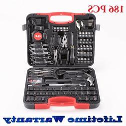 186pcs Tool Set & Case Auto Home Repair Kit SAE Metric LIFET