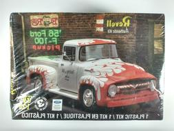 1956 Ford F-100 Pickup 1/25 Scale Glue And Paint Model Car K