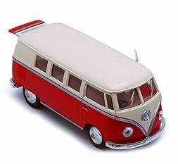 1962 Volkswagen Classical Bus, Red - Kinsmart 5377D - 1/32 s