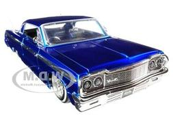 1964 Chevrolet Impala Blue Lowrider Series 1/24 Diecast Car