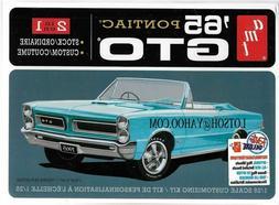 AMT 1965 Pontiac GTO 2 in1 1:25 scale model car kit new 1191