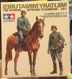 1975 TAMIYA  3553 WEHRMACHT MOUNTED INFANTRY Military Miniat