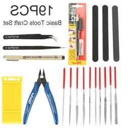 19Pc Modeler Basic Tools Craft Set Hobby Building Tool Kit F