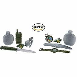 2 GrownUp Toys Army Military Pretend Playset. Knife, Radio,