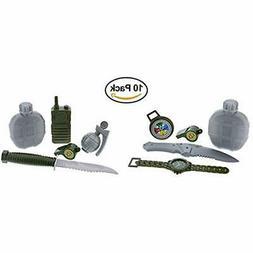 2 GrownUp Toys Army Military Pretend Playset. Knife, Radio,