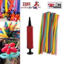 2 Model Balloon Kit Pump Set Party Kids Novelty Shape Creati